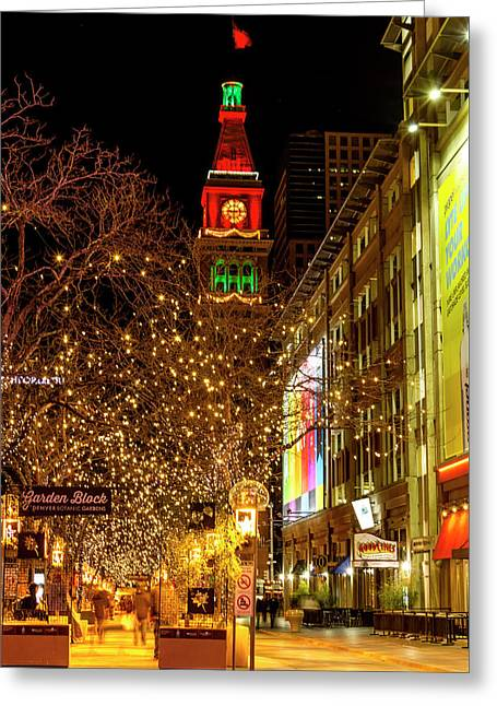 Happy Holidays Denver Co Greeting Card by Teri Virbickis