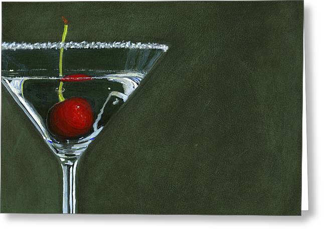 Happy Hour Greeting Card by Karyn Robinson
