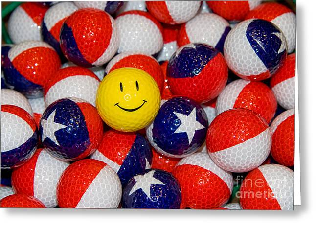 Happy Inn Texas Greeting Card by Anthony Totah