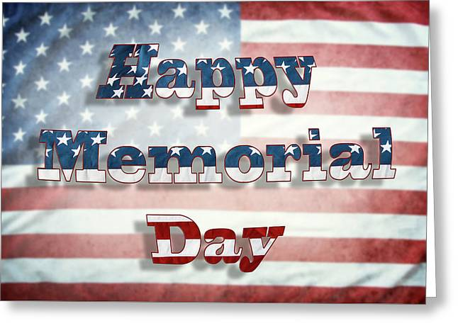 Happy Memorial Day Greeting Card by Les Cunliffe