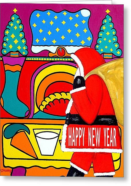 Celebration Art Print Greeting Cards - Happy New Year 11 Greeting Card by Patrick J Murphy