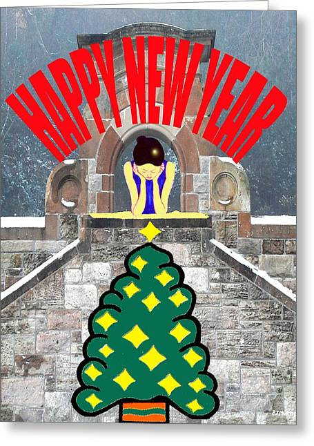 Celebration Art Print Greeting Cards - Happy New Year 12 Greeting Card by Patrick J Murphy