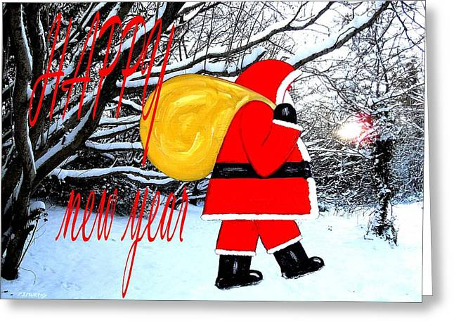 Celebration Art Print Greeting Cards - Happy New Year 18 Greeting Card by Patrick J Murphy