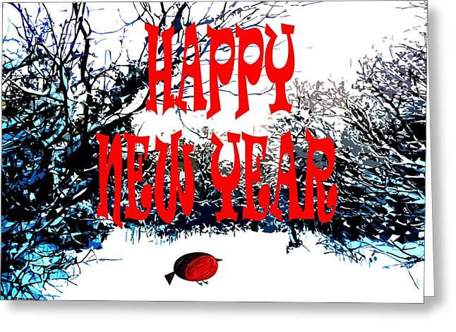 Celebration Art Print Greeting Cards - Happy New Year 19 Greeting Card by Patrick J Murphy