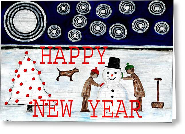 Celebration Art Print Greeting Cards - Happy New Year 20 Greeting Card by Patrick J Murphy