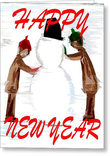 Celebration Art Print Greeting Cards - Happy New Year 21 Greeting Card by Patrick J Murphy