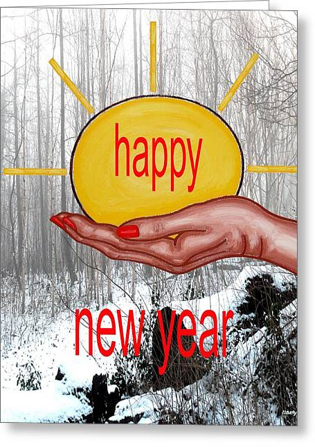 Celebration Art Print Greeting Cards - Happy New Year 22 Greeting Card by Patrick J Murphy