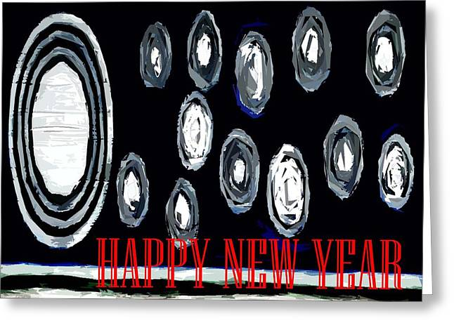 Celebration Art Print Greeting Cards - Happy New Year 27 Greeting Card by Patrick J Murphy