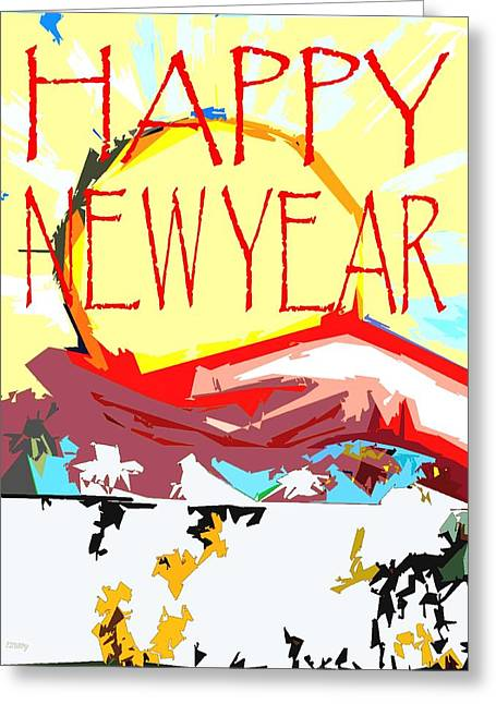 Celebration Art Print Greeting Cards - Happy New Year 28 Greeting Card by Patrick J Murphy