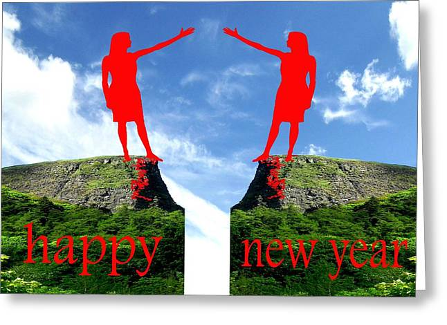 Happy New Year 36 Greeting Card by Patrick J Murphy