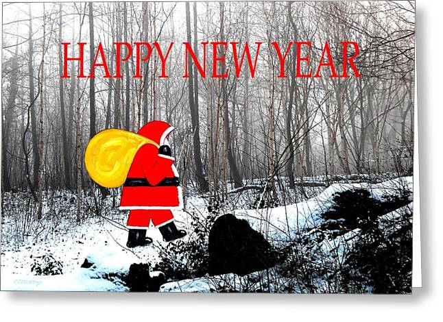 Celebration Art Print Greeting Cards - Happy New Year 38 Greeting Card by Patrick J Murphy