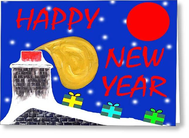 Celebration Art Print Greeting Cards - Happy New Year 40 Greeting Card by Patrick J Murphy