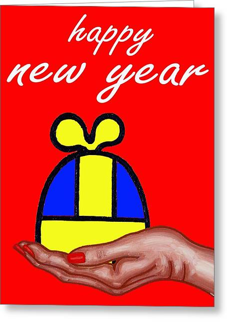 Celebration Art Print Greeting Cards - Happy New Year 41 Greeting Card by Patrick J Murphy