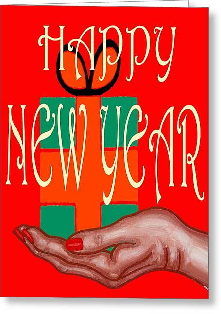 Celebration Art Print Greeting Cards - Happy New Year 42 Greeting Card by Patrick J Murphy