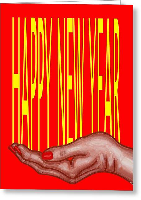 Celebration Art Print Greeting Cards - Happy New Year 43 Greeting Card by Patrick J Murphy