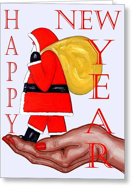 Celebration Art Print Greeting Cards - Happy New Year 44 Greeting Card by Patrick J Murphy