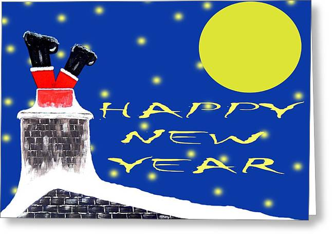 Celebration Art Print Greeting Cards - Happy New Year 45 Greeting Card by Patrick J Murphy