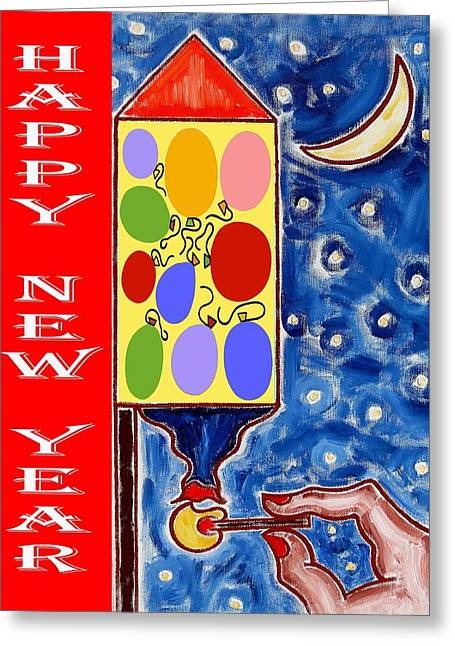 Happy New Year 47 Greeting Card by Patrick J Murphy