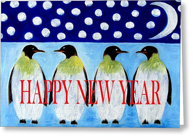 Happy New Year 5 Greeting Card by Patrick J Murphy