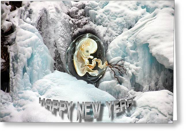 Otto Rapp Greeting Cards - Happy New Year Greeting Card by Otto Rapp