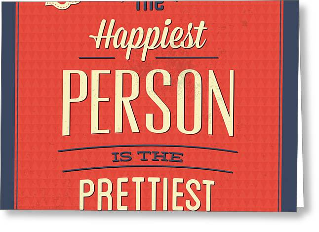 Happy Person Greeting Card by Naxart Studio
