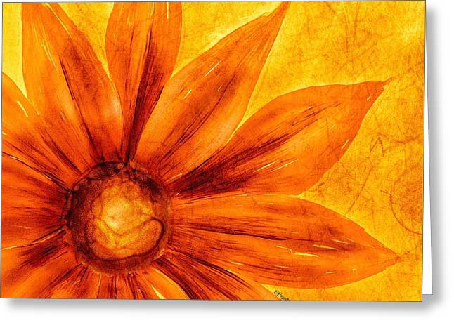 Happy Petals Greeting Card by Brenda Bryant