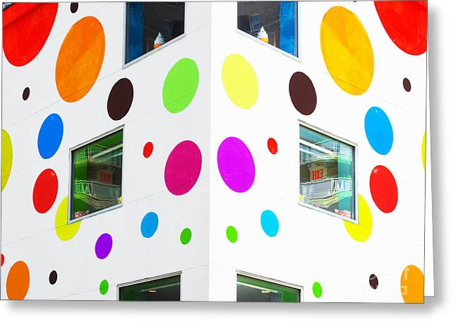 Surface Design Greeting Cards - Happy NYC Polka Dot Walls Greeting Card by ArtyZen Studios - ArtyZen Home