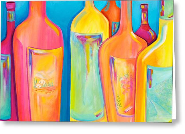 Labelled Greeting Cards - Happy Shiny Hour Greeting Card by Debi Starr