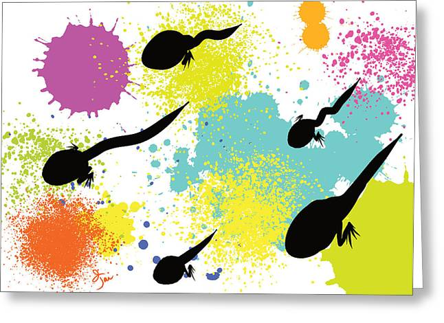 Whimsical Greeting Cards - Happy Tadpoles Greeting Card by Oiyee  At Oystudio