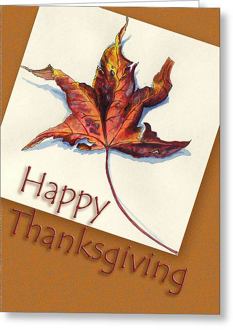 Party Invite Greeting Cards - Happy Thansgiving Greeting Card by Thomas Lupari