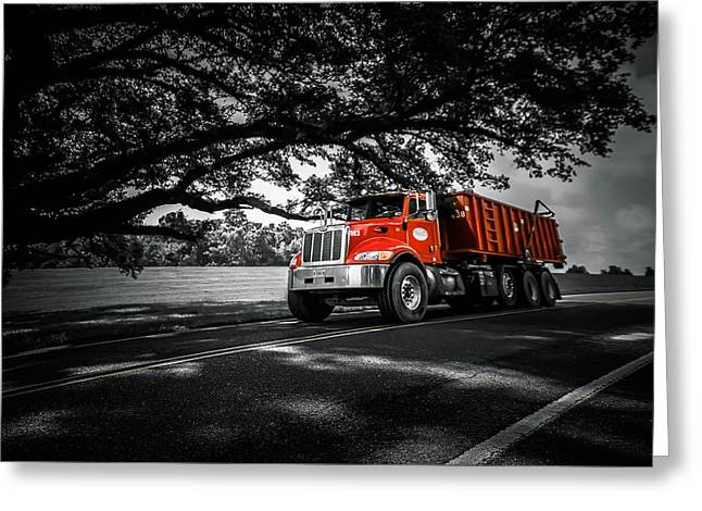 Michelle Greeting Cards - Happy Truck Greeting Card by Michelle Saraswati