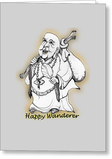 Happy Wanderer Greeting Card by James Lewis Hamilton
