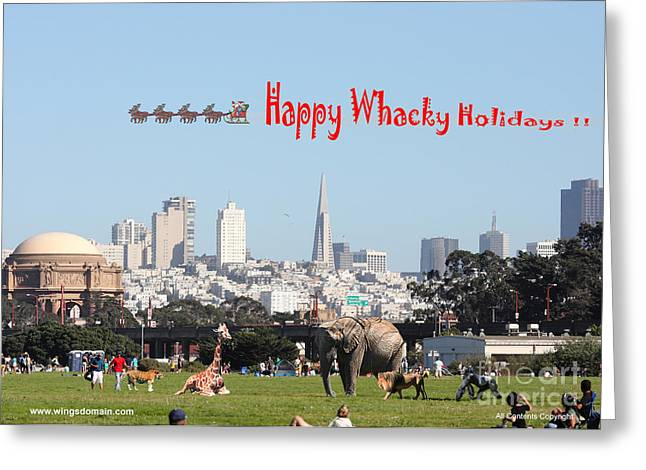 Happy Whacky Holidays Greeting Card by Wingsdomain Art and Photography