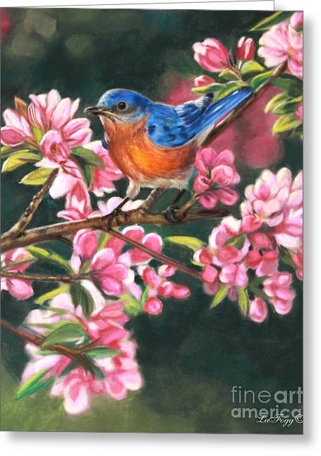 Blue Pastels Greeting Cards - Harbingers of Spring Greeting Card by Deb LaFogg-Docherty