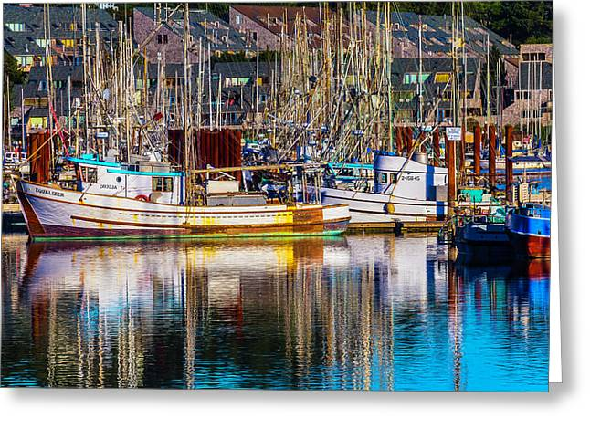 Harbor Boats Greeting Card by Garry Gay