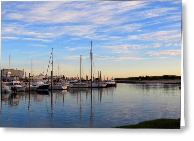Masts Greeting Cards - Harbor in Spring Greeting Card by Dianne Cowen