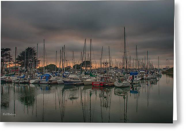 Moss Landing California Greeting Cards - Harbor Light Greeting Card by Bill Roberts