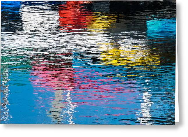 Ripples Greeting Cards - Harbor Reflections I Greeting Card by Duane Miller