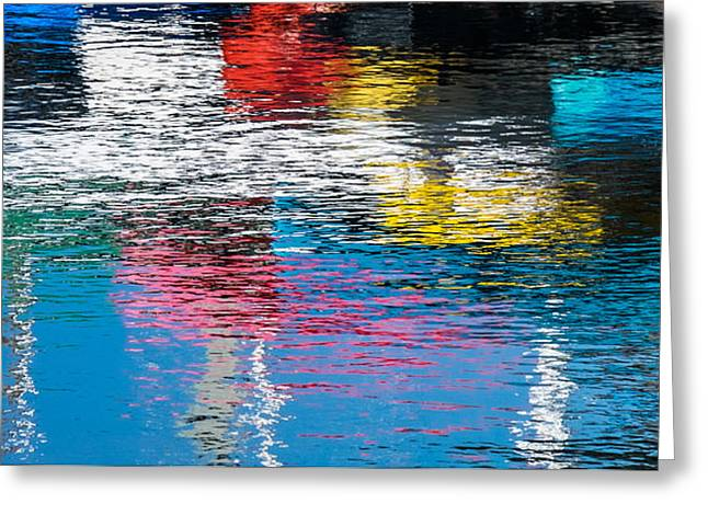 Ripples Greeting Cards - Harbor Reflections I - Abstract Photograph by Duane Miller Greeting Card by Duane Miller