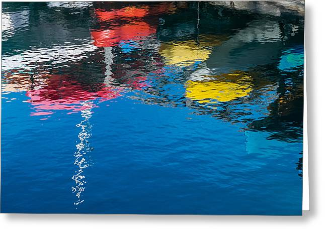 Ripples Greeting Cards - Harbor Reflections II Greeting Card by Duane Miller