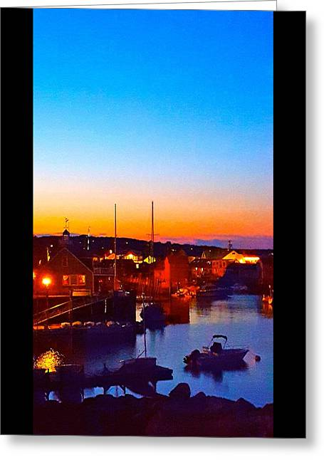 Boats In Water Greeting Cards - Harbor Serenity Greeting Card by Harriet Harding