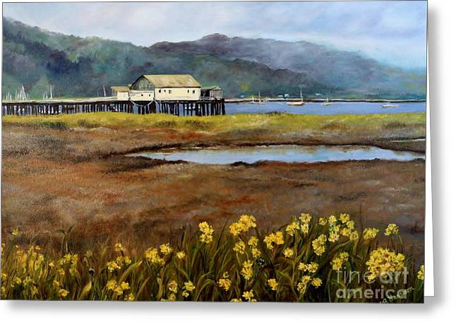 Half Moon Bay Greeting Cards - Harbor Spring Greeting Card by Mary Beth Harrison