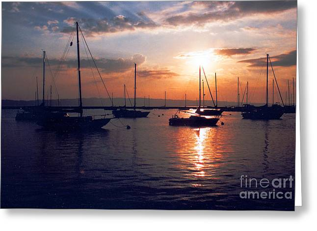 Kansas City Photographer Greeting Cards - Harbor Sunrise Greeting Card by Crystal Nederman