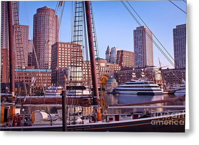 Harbor Sunrise Greeting Card by Susan Cole Kelly
