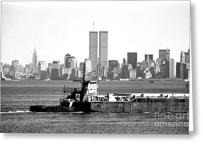 Harbor View 1990s Greeting Card by John Rizzuto