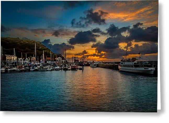 Fishing_boat Greeting Cards - Harbour Sunrise Greeting Card by Cliff Miller