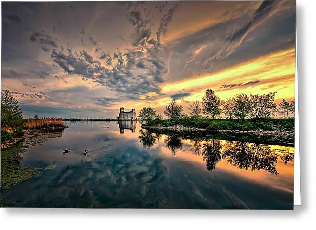 Harbour View Park Greeting Card by Jeff S PhotoArt