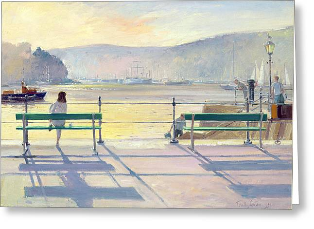 Docked Boats Greeting Cards - Harbour View Greeting Card by Timothy Easton