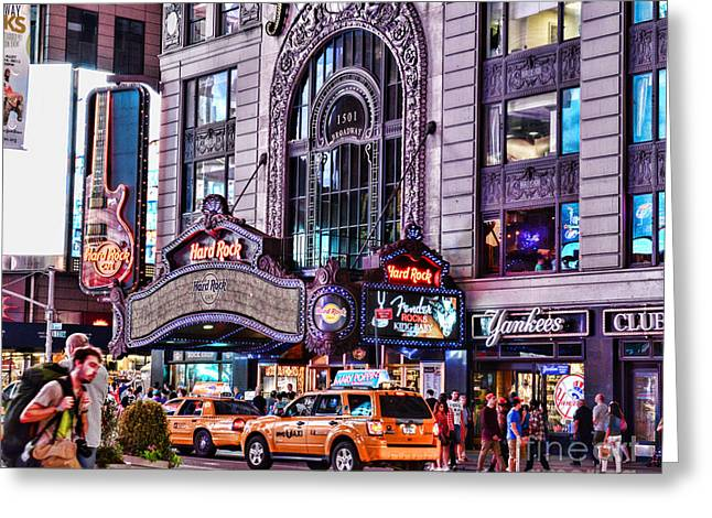 Hard Rock Cafe Greeting Cards - Hard Rock Cafe Greeting Card by Paul Ward
