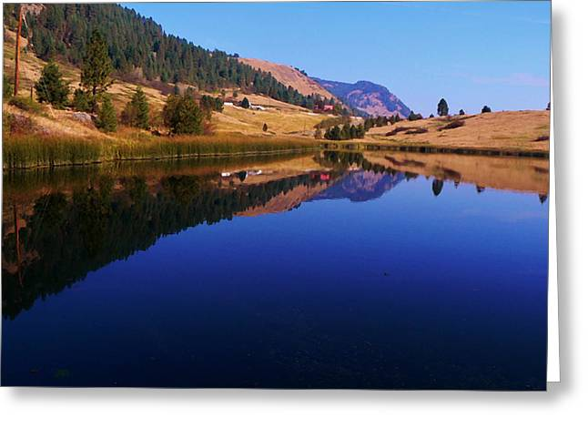 Southern Province Greeting Cards - Hardy Mountain Lake Grand Forks BC Greeting Card by Barbara St Jean